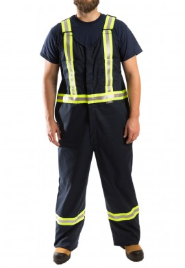 High Visibility tapered design Bib Overall