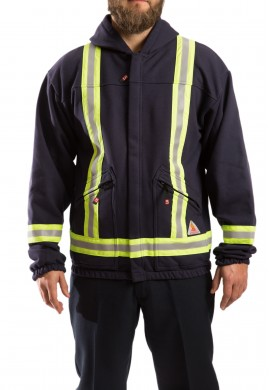 Hi Vis F.R. hooded fleece vest