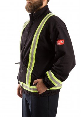 Hi Vis F.R. fleece vest 2 Trim 2