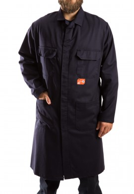 Flame resistant shop coat