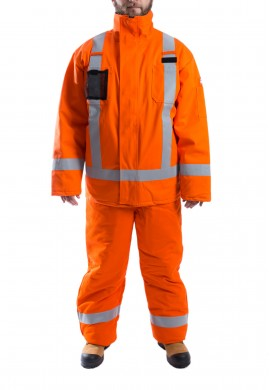 High Visibility water and flame resistant Parka