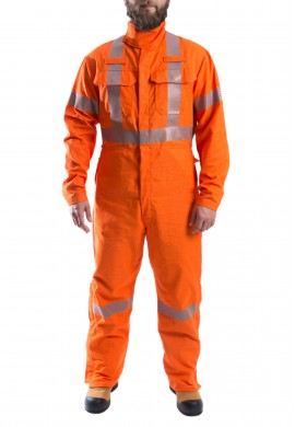 Hi Visibility inherently FR welding CSA coverall, Class 1