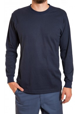 Poly cotton long sleeve T-shirt