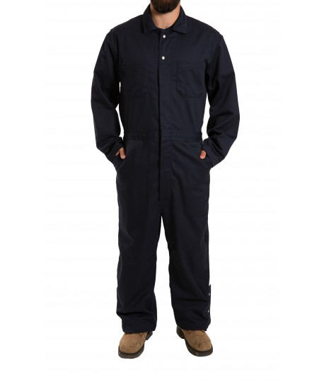 Cotton Coverall snap closure