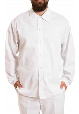 Chemise 100% Coton à manches longues, sans poche, fermeture à snapettes