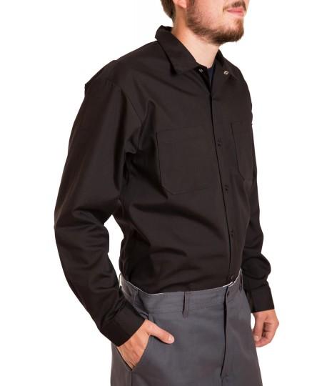 Chemise à manches longues, fermeture boutons, snapettes au collet
