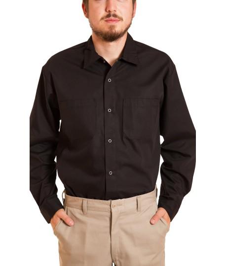 Chemise à manches longues, fermeture snapettes