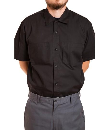 Chemise à manches courtes, fermeture boutons, snapette au collet