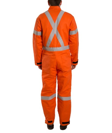 Insulated Flame Resistant High Visibility Coverall Lh