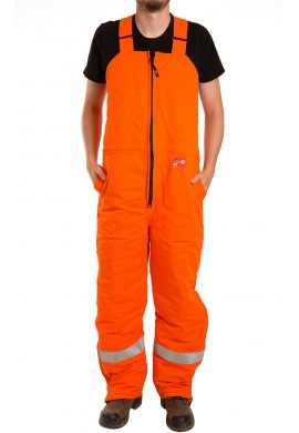 Insulated F.R. Bib Overall, High Visibility