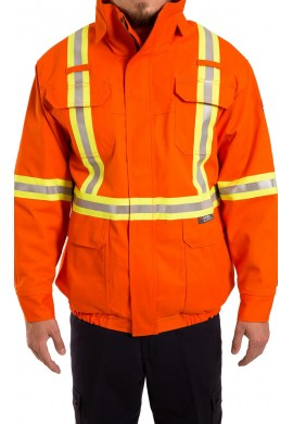 Flame resistant high visibility 3 in 1 Bomber jacket