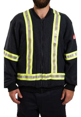 Hi Vis F.R. fleece vest