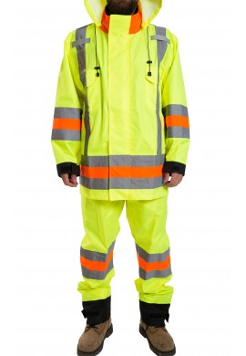 "Insulated flagmen Hi Vis water proof vest (""MTQ"" standard)"